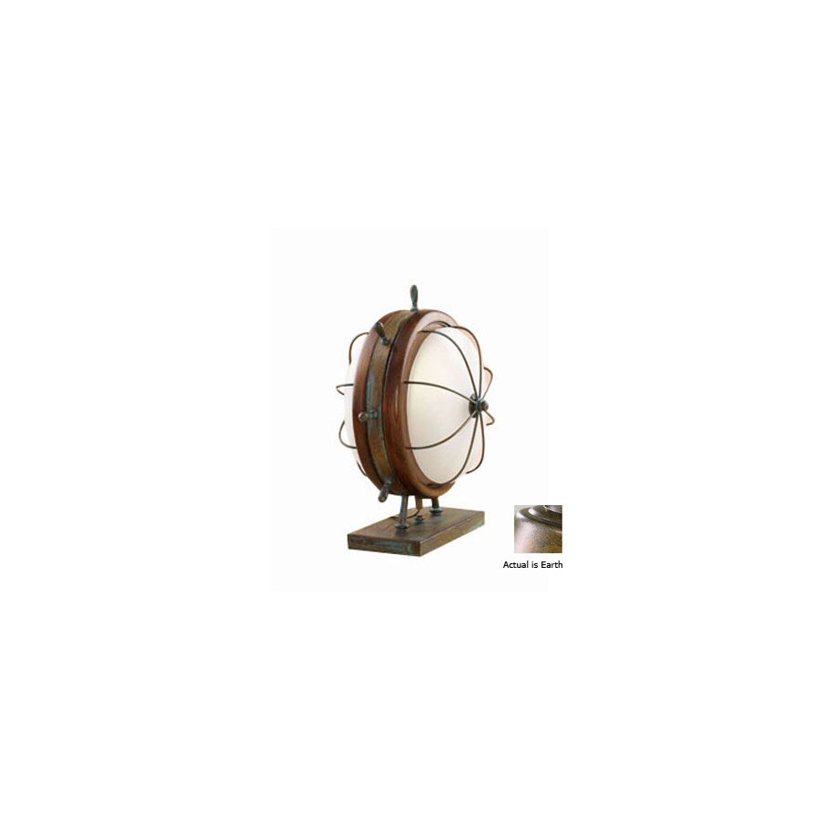 Lustrarte 14-1/2-in Earth Table Lamp with Glass Shade