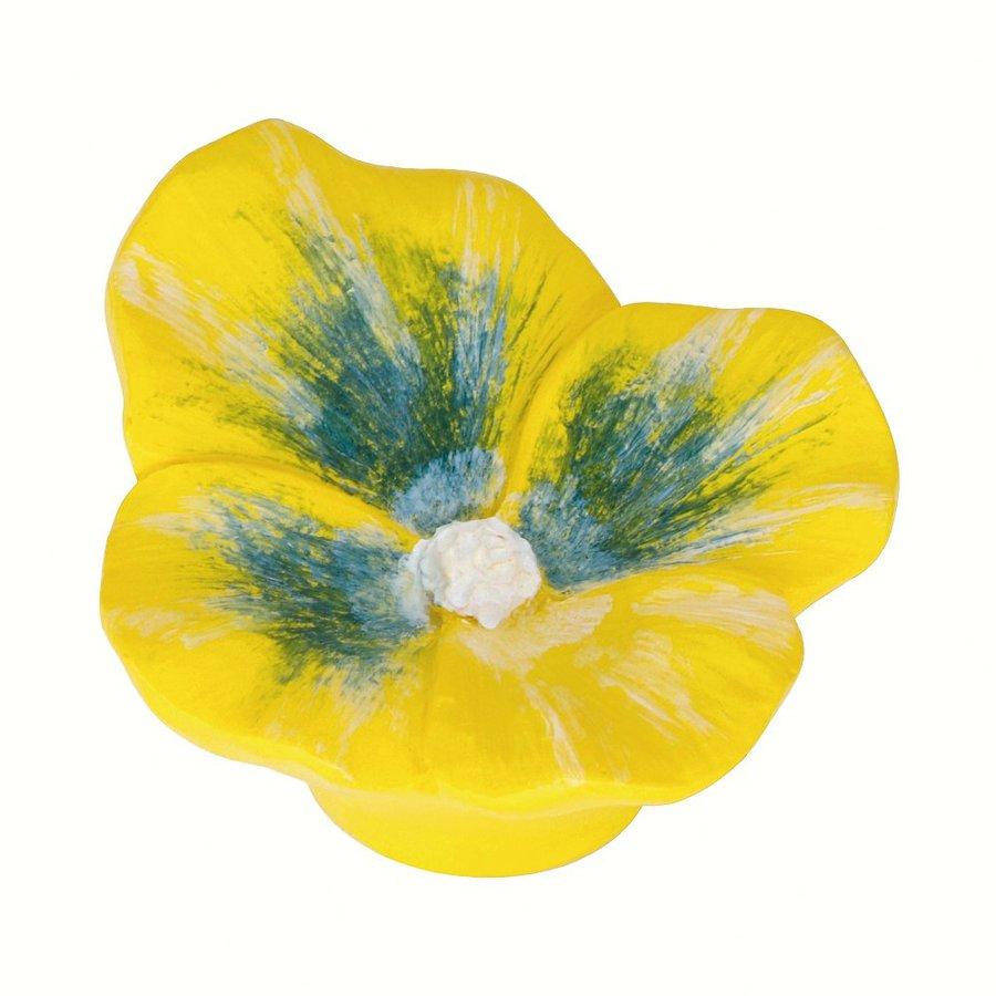 Siro Designs Flowers Yellow Pansy Novelty Cabinet Knob
