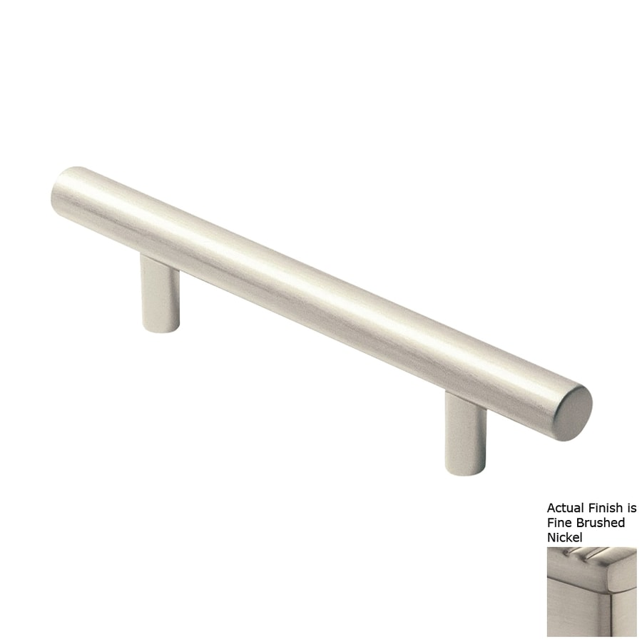 Siro Designs 3-3/4-in Center-To-Center Fine-Brushed Nickel Euro Bar Cabinet Pull