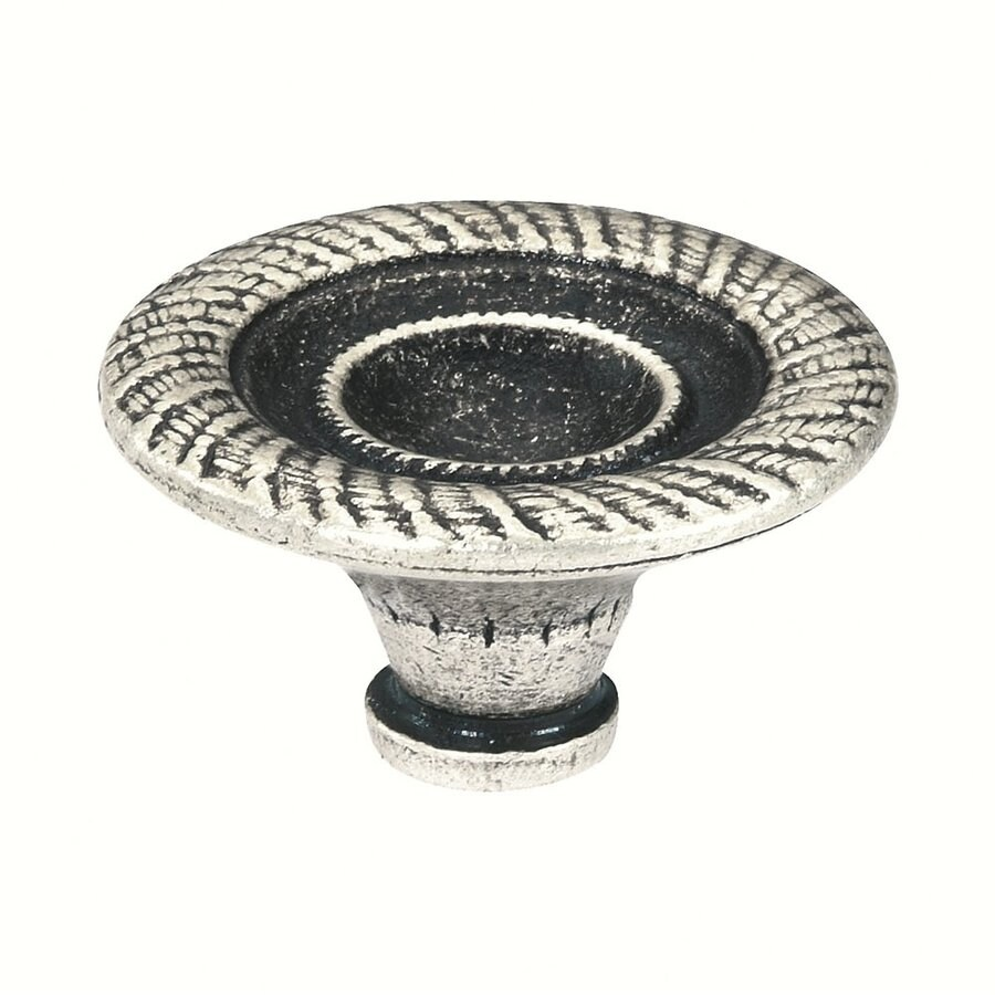 Siro Designs Nuevo Classico Antique Silver Round Cabinet Knob