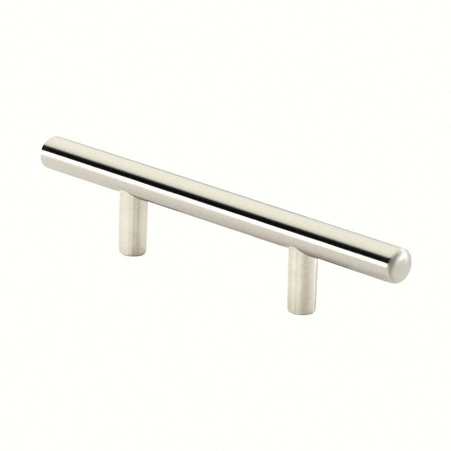 Siro Designs 3-1/2-in Center-To-Center Fine-Brushed Nickel European Rail Bar Cabinet Pull