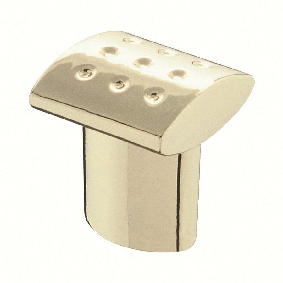 Siro Designs Dots and Stripes Bright Brass Rectangular Cabinet Knob
