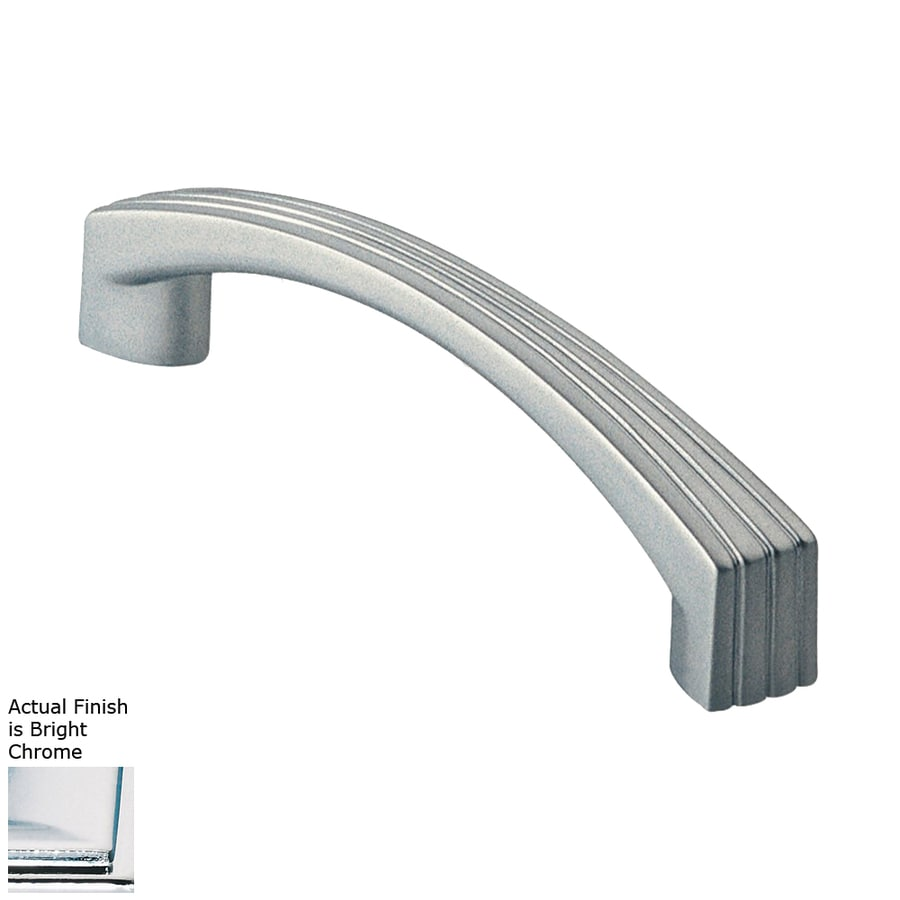 Siro Designs 5-in Center-To-Center Bright Chrome Dots and Stripes Arched Cabinet Pull