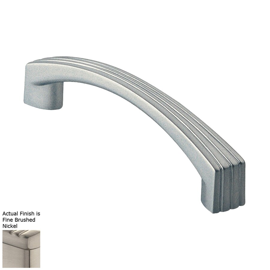 Siro Designs 5-in Center-To-Center Fine-Brushed Nickel Dots and Stripes Arched Cabinet Pull