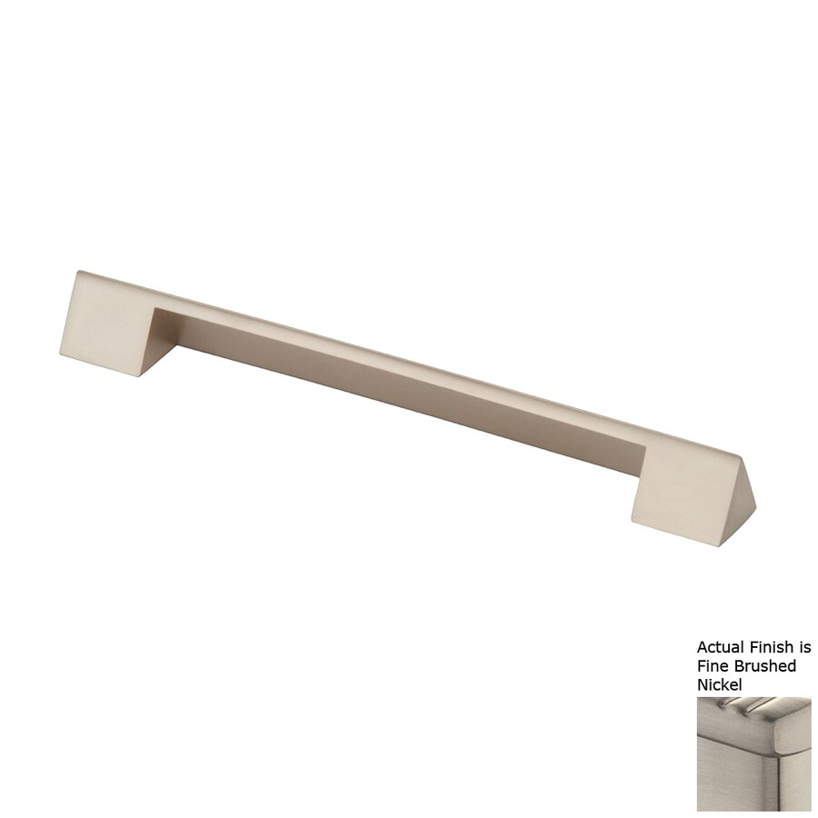 Siro Designs 5-in Center-To-Center Fine-Brushed Nickel Belina Rectangular Cabinet Pull