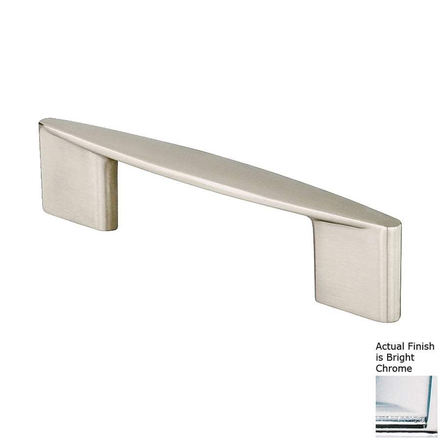 Siro Designs 224Mm Center-To-Center Bright Chrome Italian Line Bar Cabinet Pull