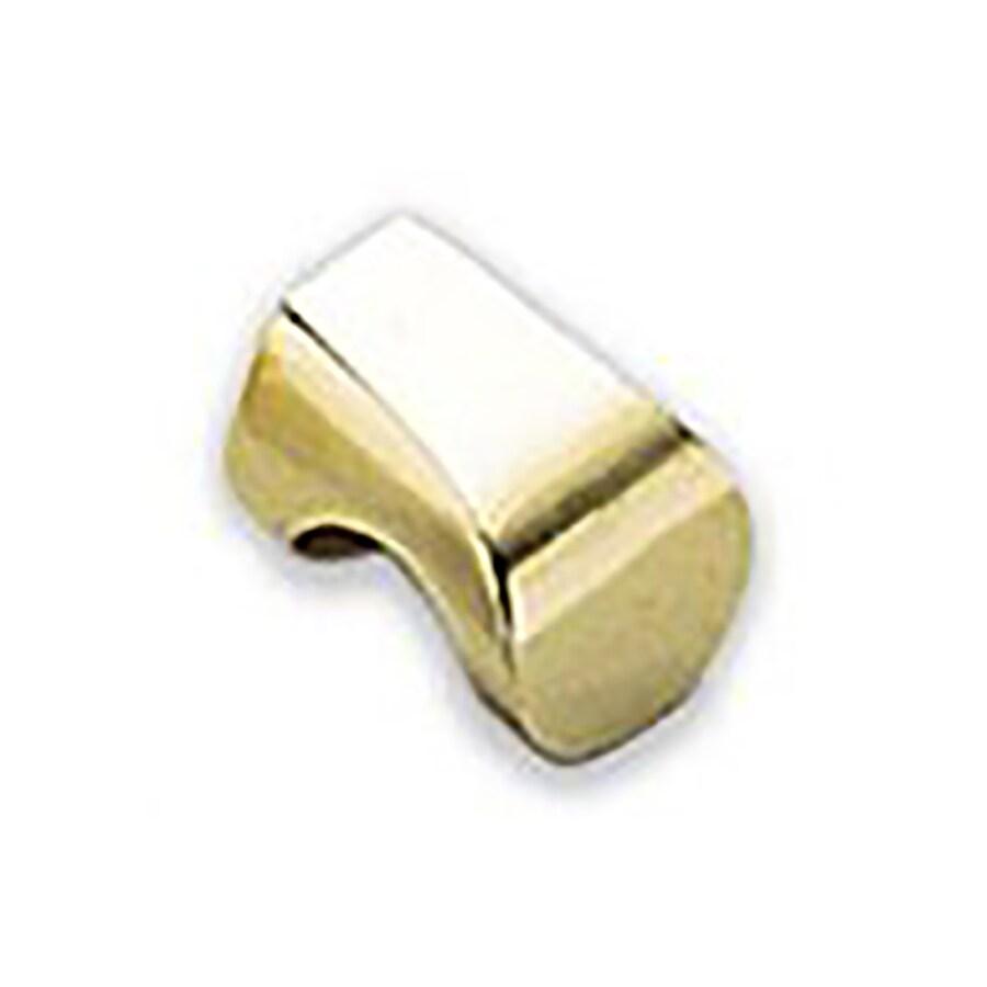 Sugatsune Modern Hook Satin Brass Rectangular Cabinet Knob