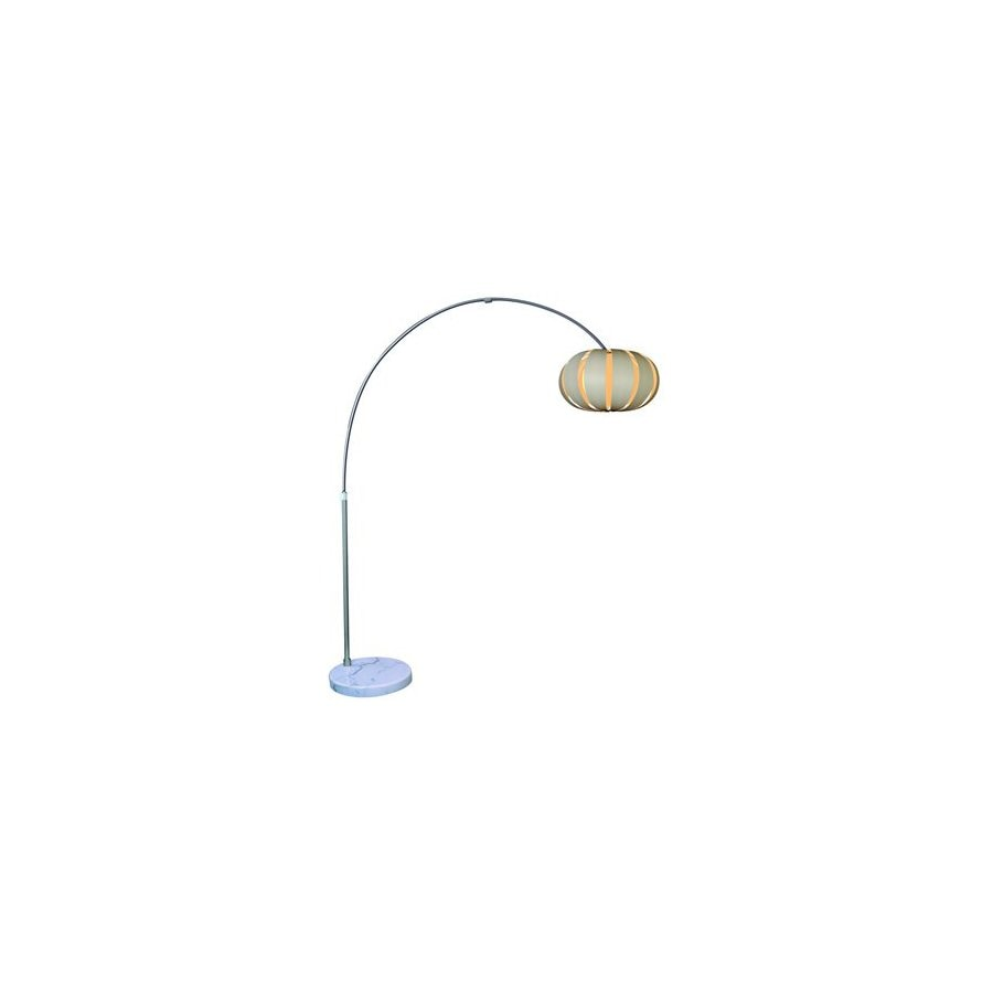 Trend Lighting 90-in Brushed Nickel Shaded Floor Lamp Indoor Floor Lamp with Fabric Shade