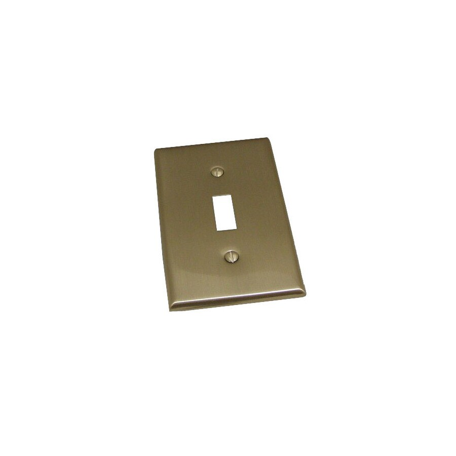 Residential Essentials 1-Gang Satin Nickel Standard Toggle Steel Wall Plate