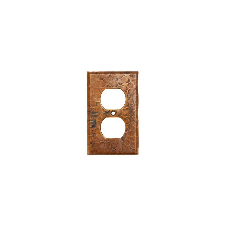Premier Copper Products 1-Gang Oil-Rubbed Bronze Decorator Duplex Receptacle Metal Wall Plate
