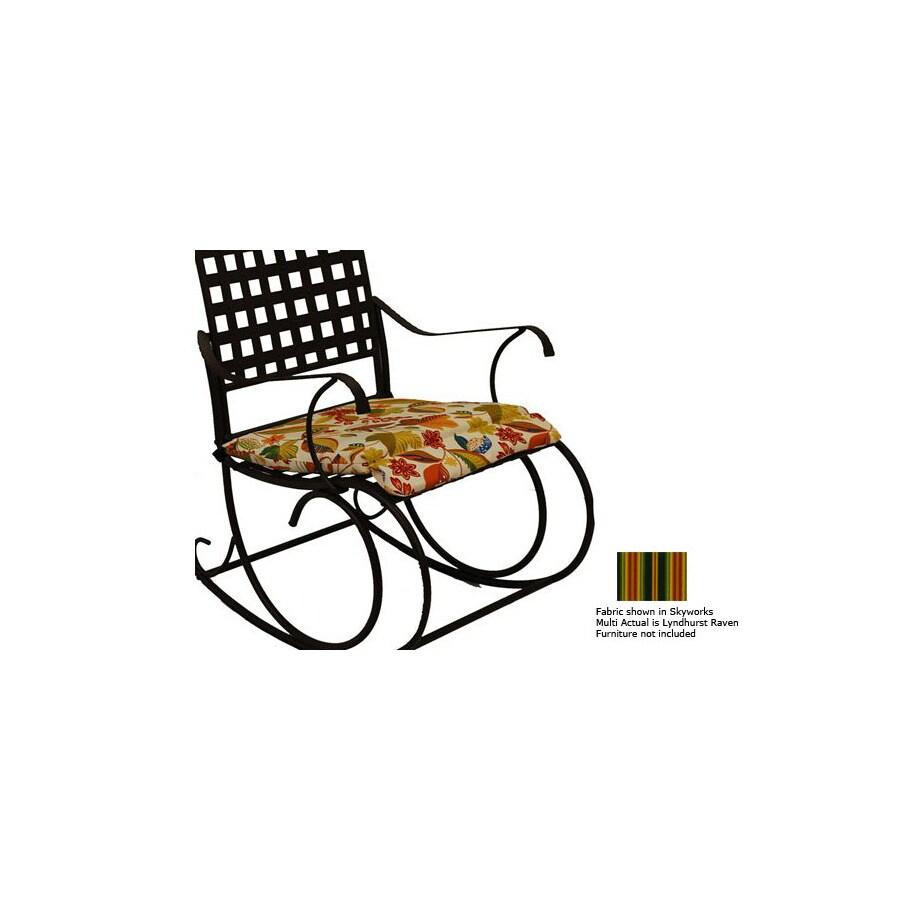 Blazing Needles Stripe Cushion for Rocking Chair