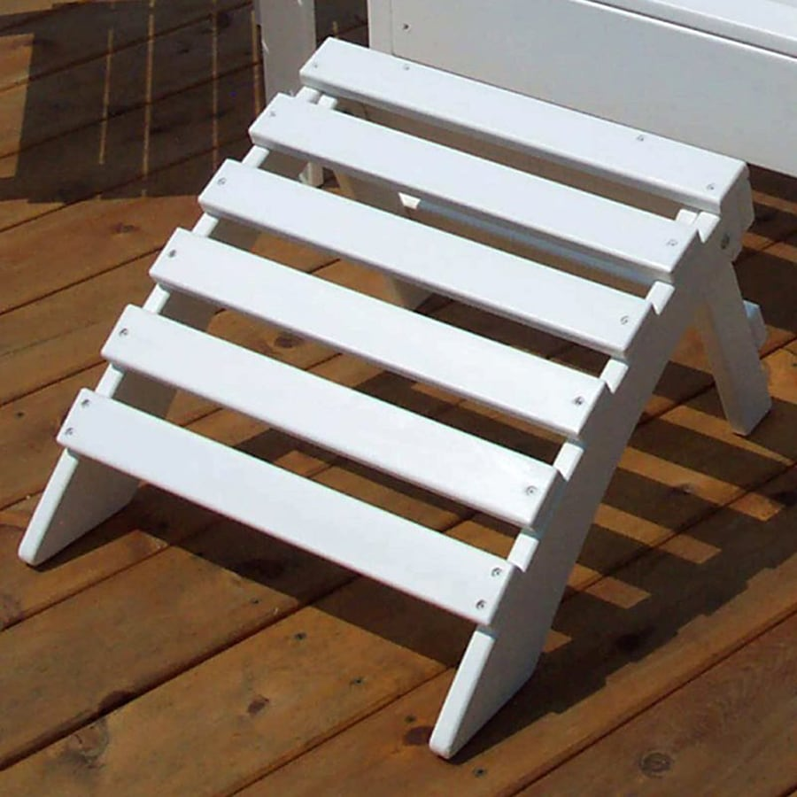Prairie Leisure Design Satin White Pine Foot Stool