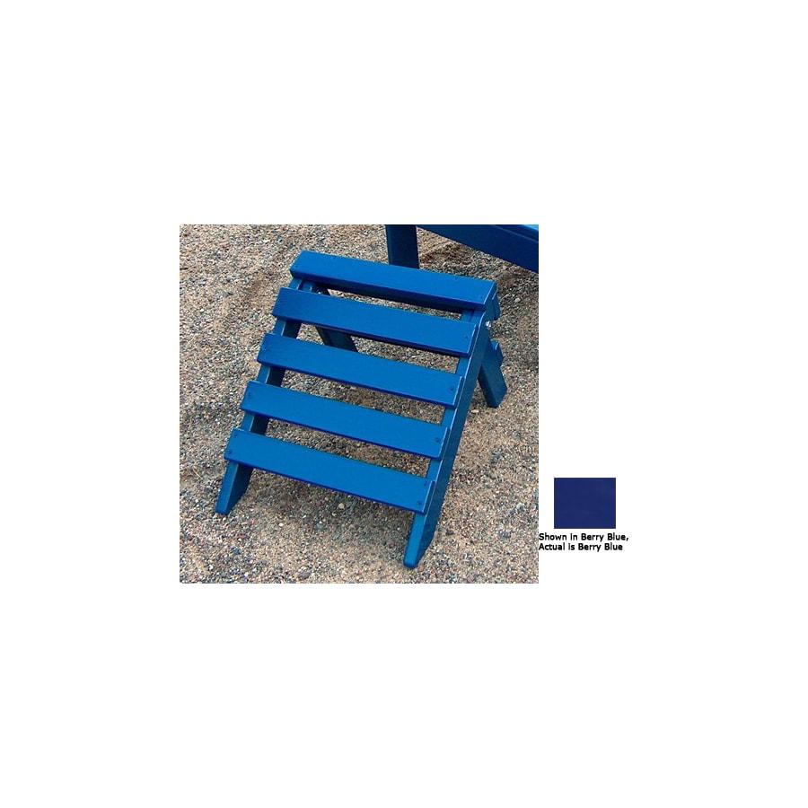 Prairie Leisure Design 14-in L x 14-in W x 11-in H Berry Blue Wood Ottoman