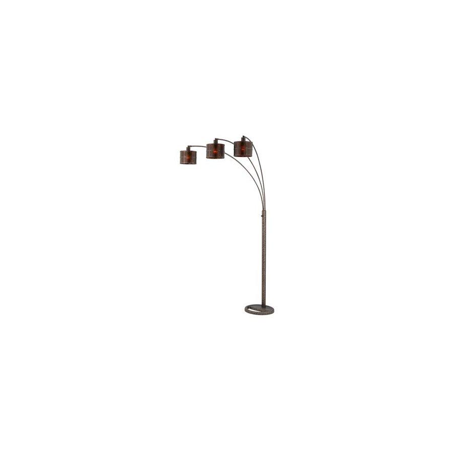 Cal Lighting 82-in Rust Shaded Floor Lamp Indoor Floor Lamp with Metal Shade