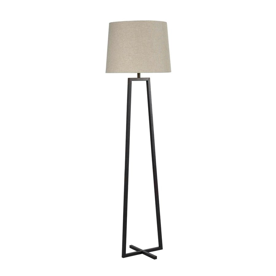 Kenroy Home Ranger 58-in Three-Way Oil-Rubbed Bronze Shaded Floor Lamp with Shade