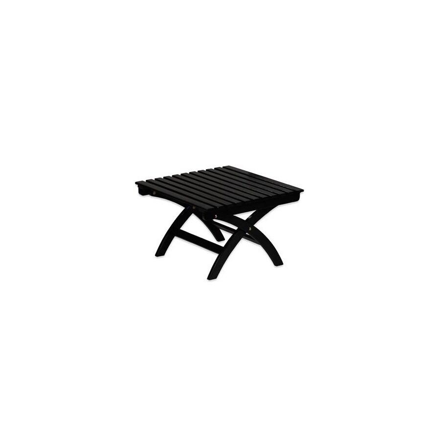 ACHLA Designs 26-in L x 26-in W x 17-in H Black Wood Ottoman