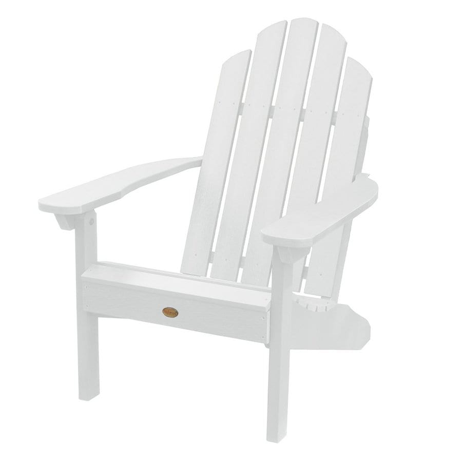 Highwood USA Westport White Plastic Patio Adirondack Chair