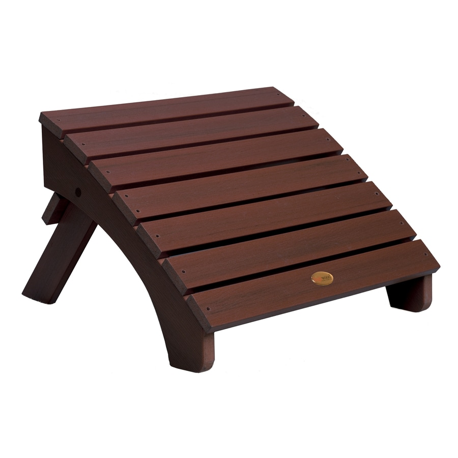 Shop highwood usa adirondack weathered acorn plastic ottoman at - Plastic adirondack footrest ...