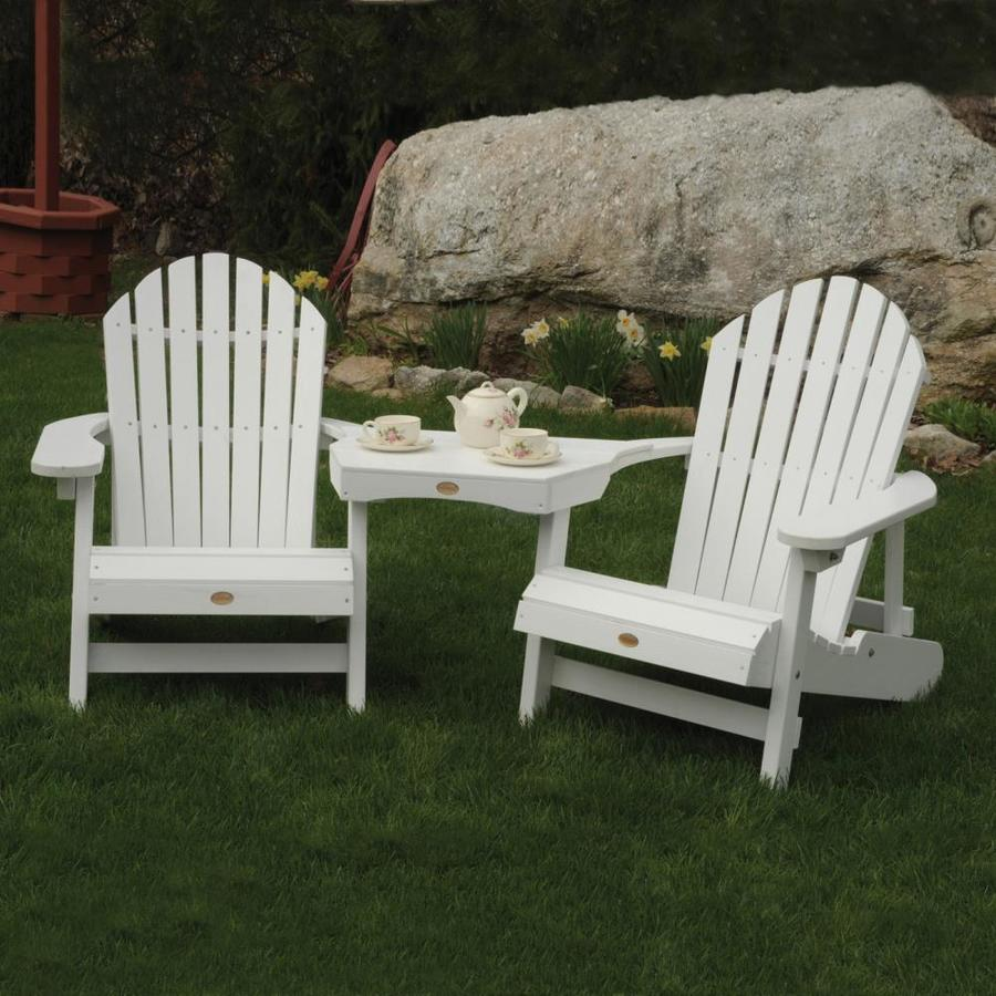 shop highwood usa 2 count white plastic patio adirondack chairs at. Black Bedroom Furniture Sets. Home Design Ideas