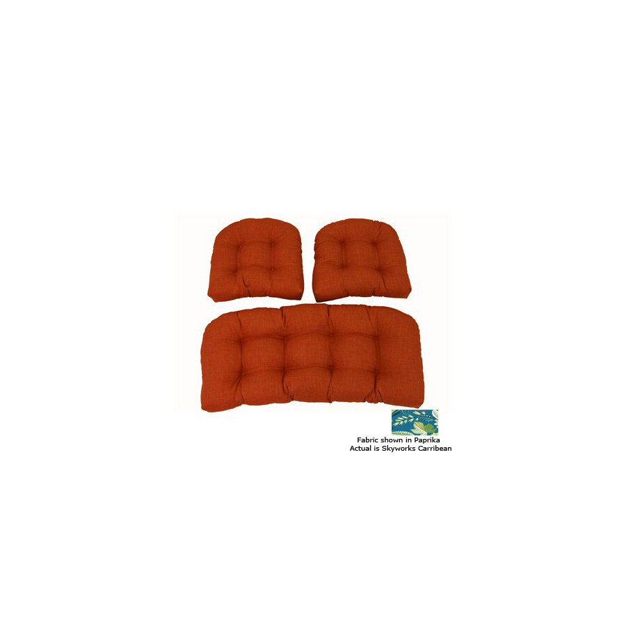 Blazing Needles Skyworks Carribean Patio Chair Cushion