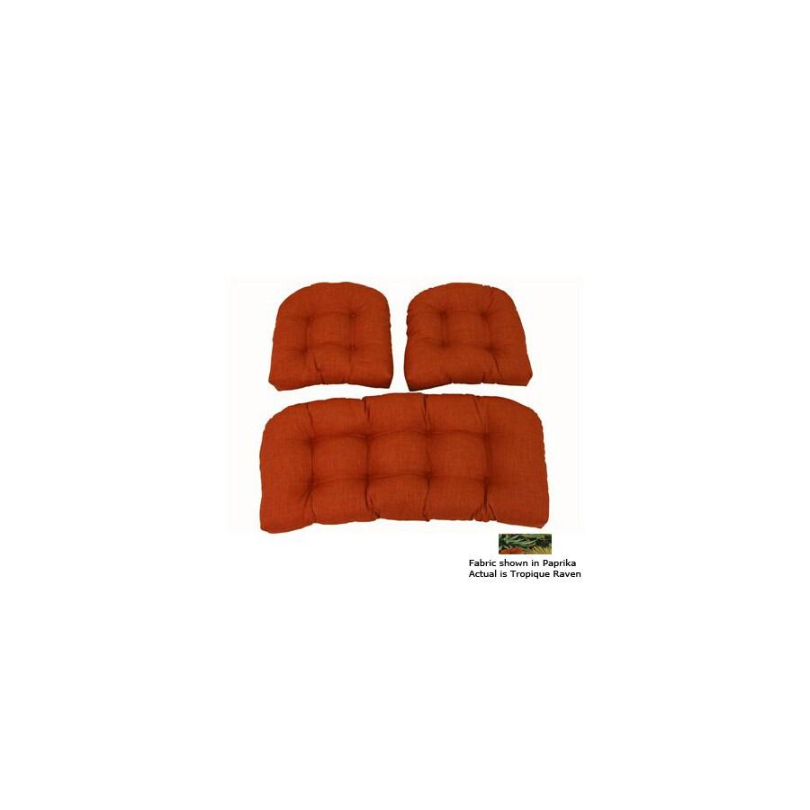 Blazing Needles Tropique Raven Patio Chair Cushion