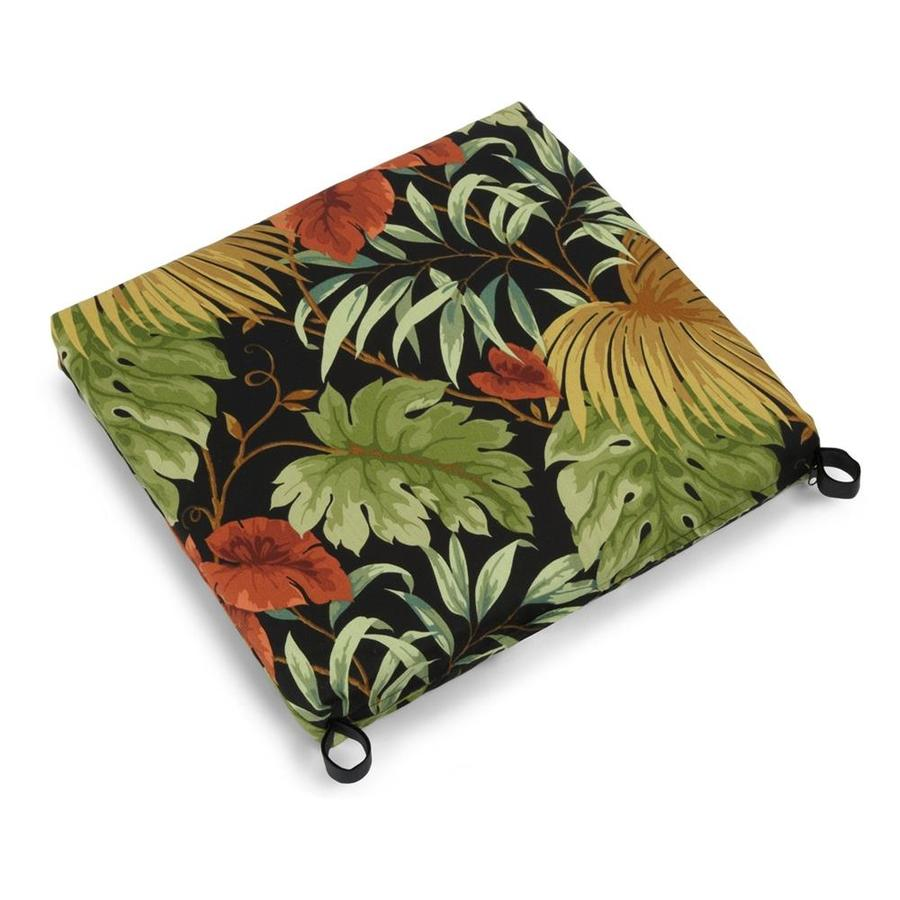 Blazing Needles Tropique Raven Tropical Cushion For Rocking Chair