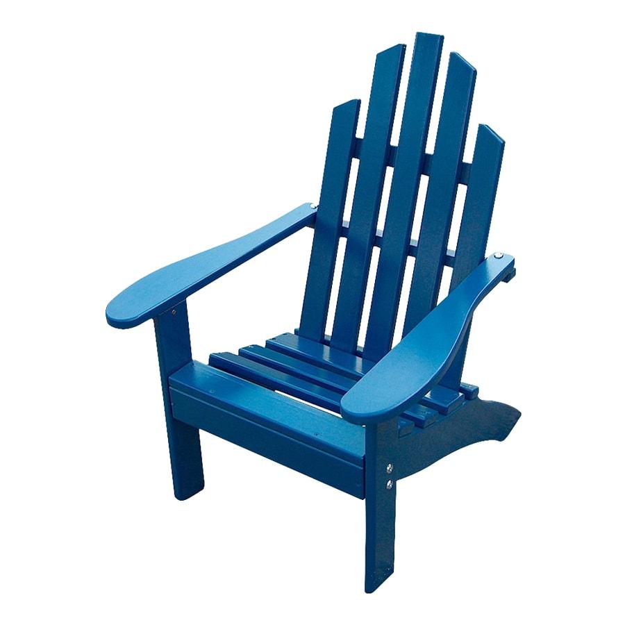 Prairie Leisure Design Berry Blue Pine Patio Adirondack Chair