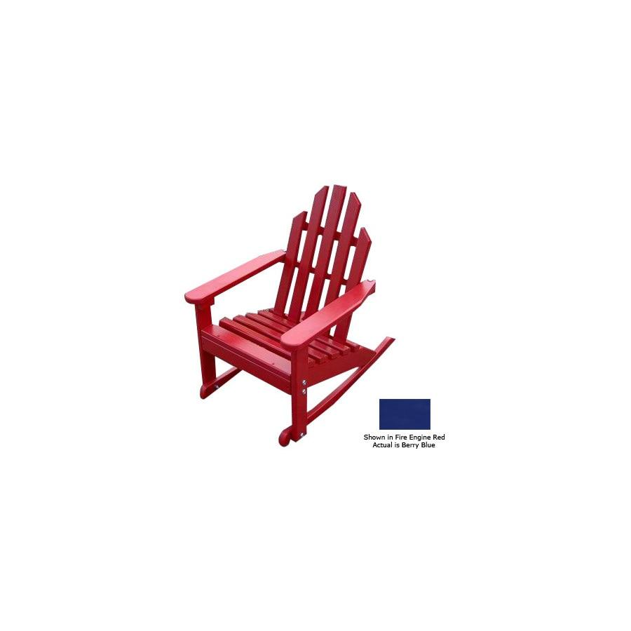 Prairie Leisure Design Berry Blue Wood Rocking Adirondack Chair