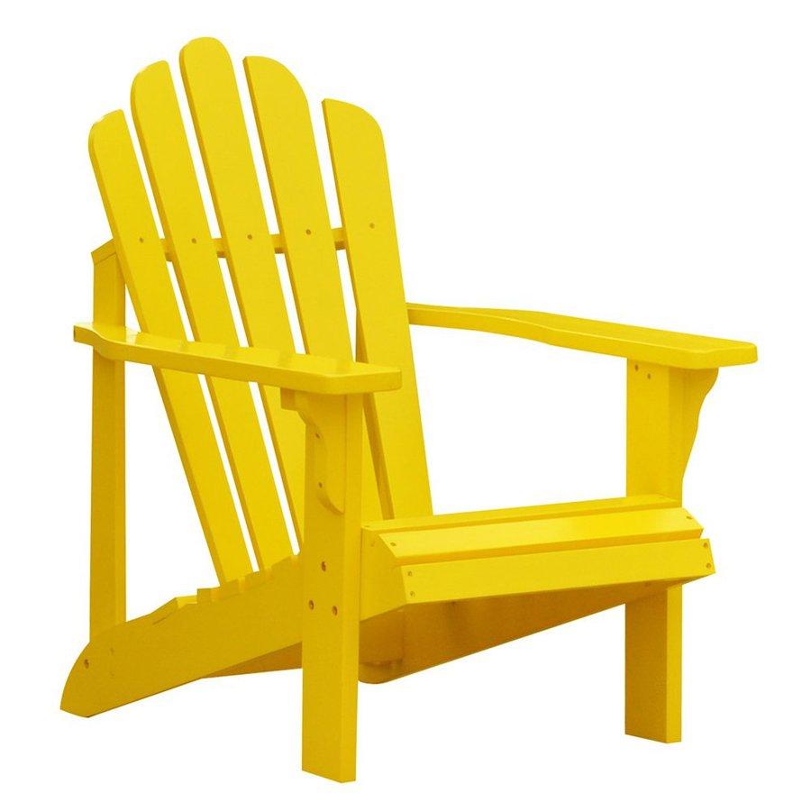 Shine Company Westport Lemon Yellow Cedar Adirondack Chair