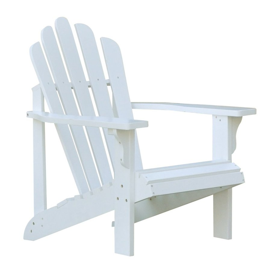 Shop Shine Company Westport White Cedar Adirondack Chair At