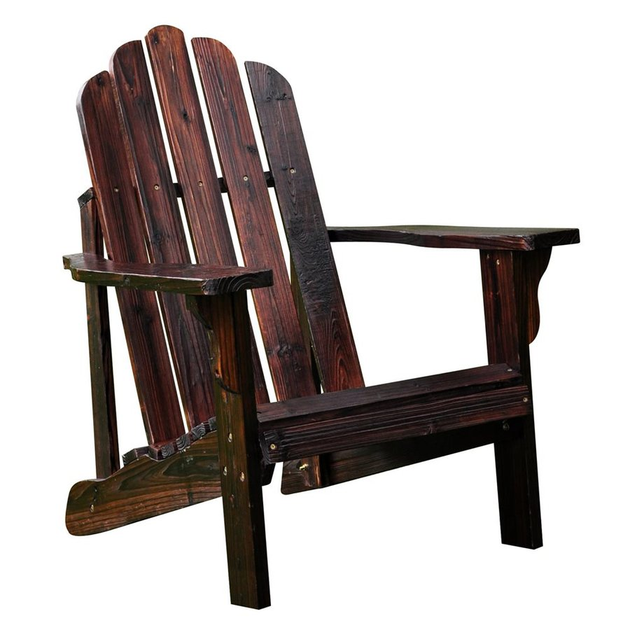 Shine Company Marina Burnt Brown Cedar Patio Adirondack Chair