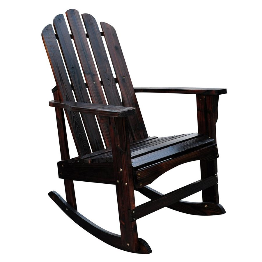 Shine Company Marina Burnt Brown Cedar Rocking Chair