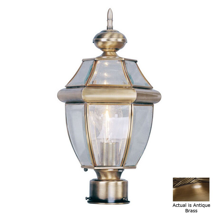 Livex Lighting Monterey 15-3/4-in Antique Brass Pier Mount Light