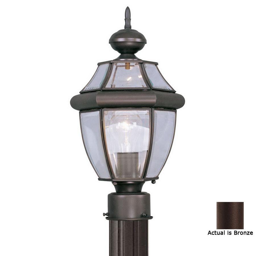 Livex Lighting Monterey 15-3/4-in Bronze Pier Mount Light