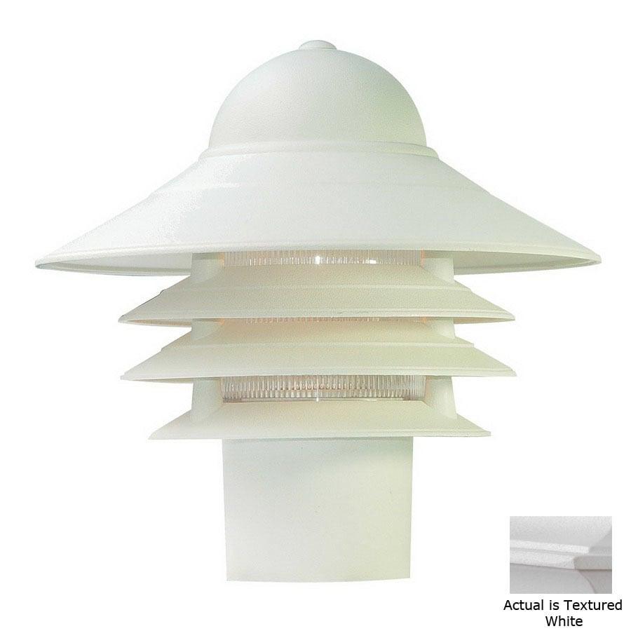 Acclaim Lighting Mariner 10-in Textured White Pier Mount Light