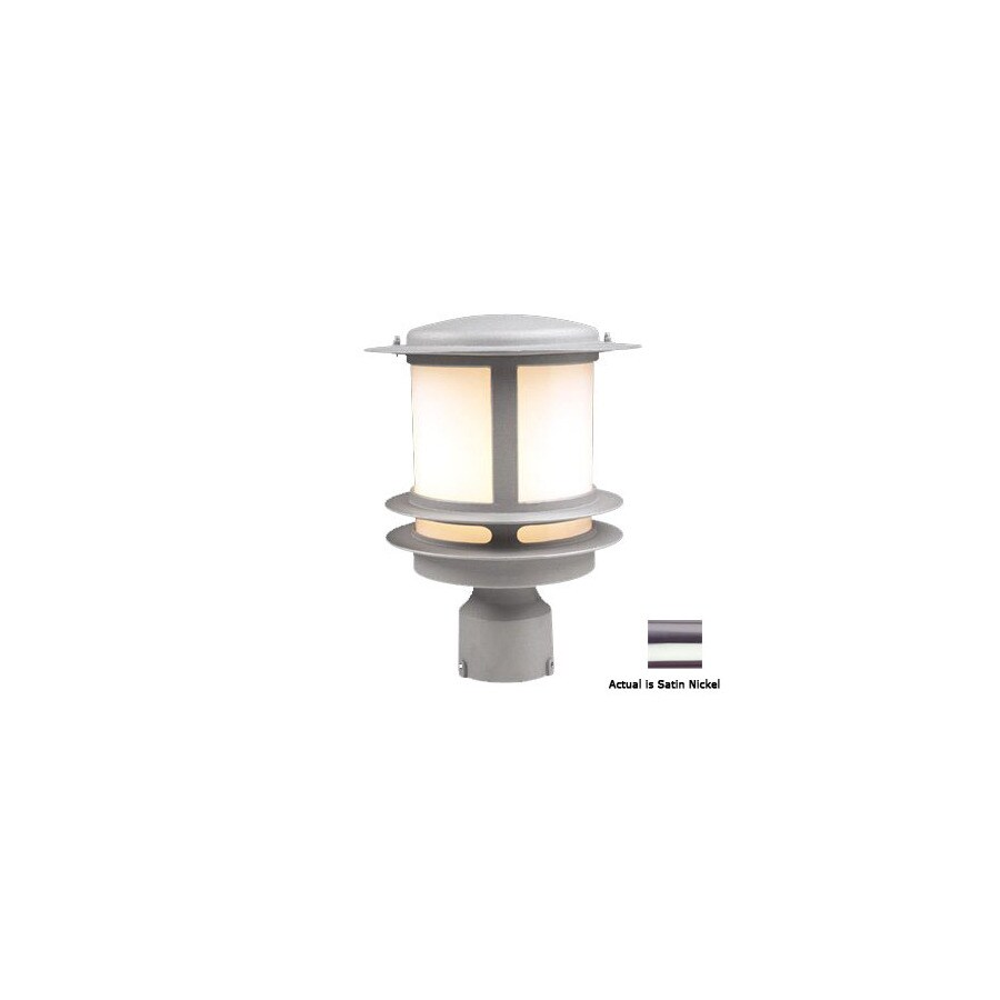 PLC Lighting Tusk 12-in Satin Nickel Pier Mount Light
