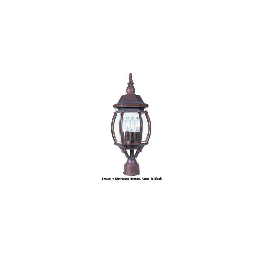 International Lighting 21-in Black Pier Mount Light
