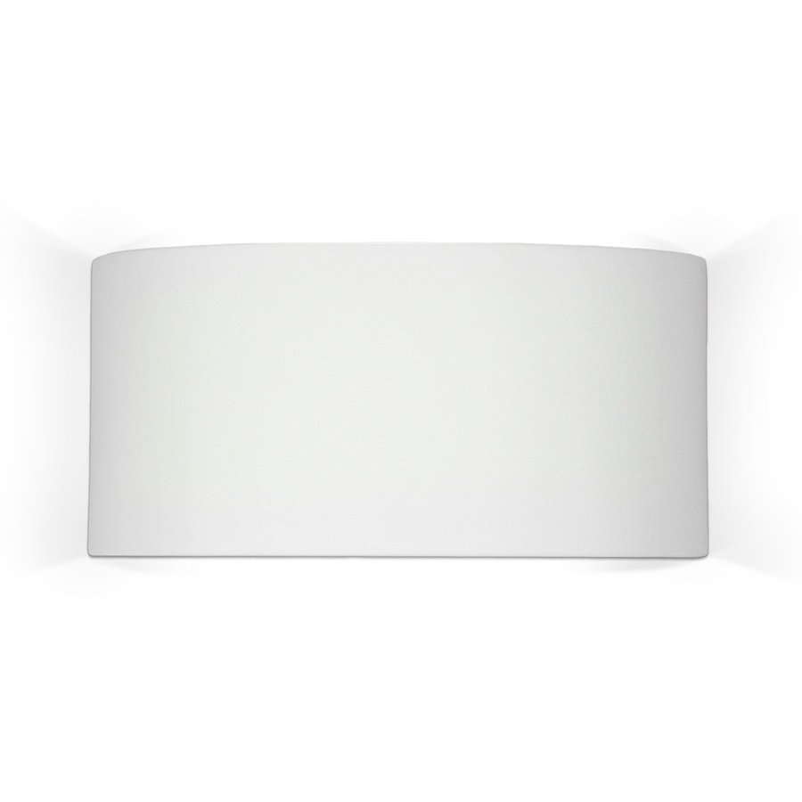 A-19 Islands Of Light Nicosia 14.25-in W 1-Light Satin White Pocket Hardwired Wall Sconce