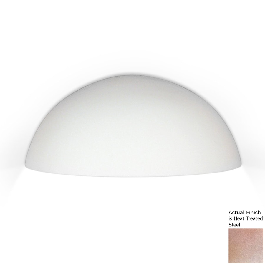 A-19 Islands Of Light Thera 10.25-in W 1-Light Heat Treated Steel Pocket Hardwired Wall Sconce
