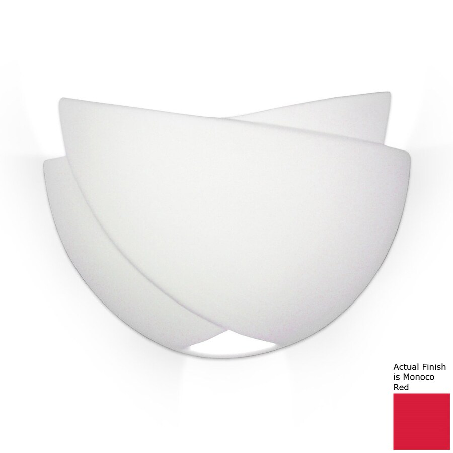 A-19 Islands Of Light Ceylon 10-in W 1-Light Monoco Red Pocket Hardwired Wall Sconce