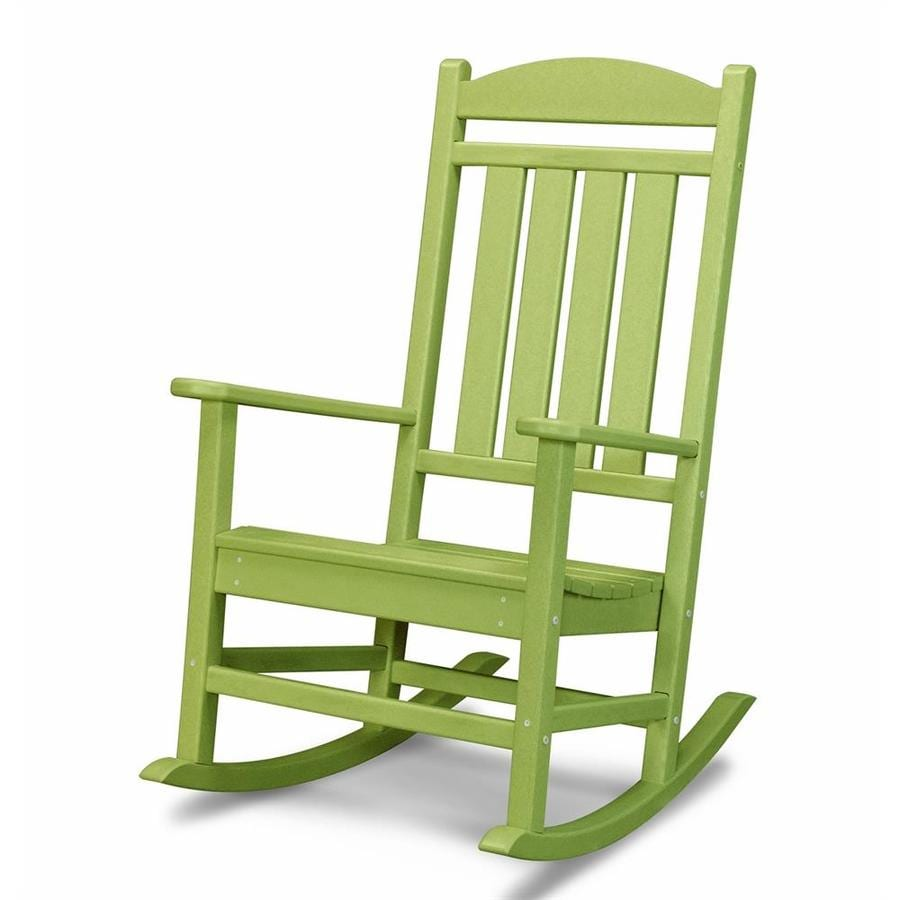 POLYWOOD Presidential Lime Plastic Patio Rocking Chair