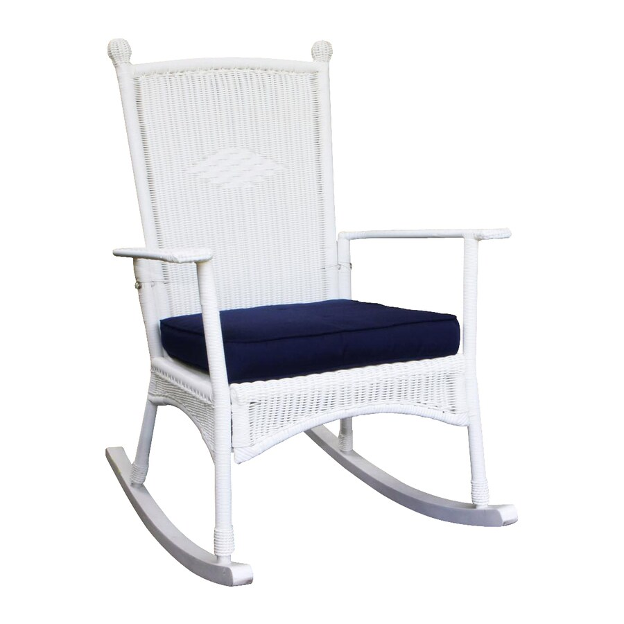 Shop Tortuga Outdoor Portside Coastal White Wicker Rocking Chair At