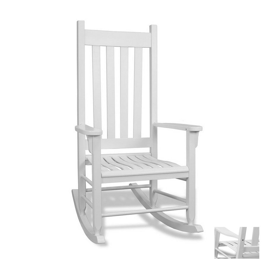 shop tortuga outdoor white outdoor rocking chair at. Black Bedroom Furniture Sets. Home Design Ideas