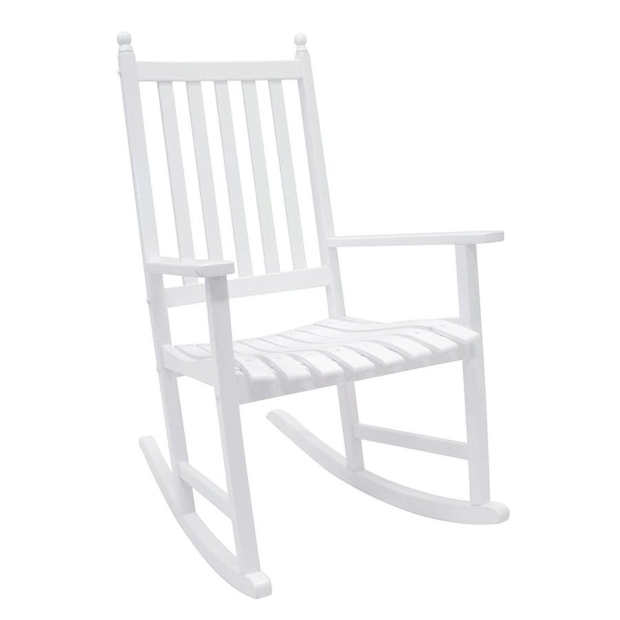 ACHLA Designs White Eucalyptus Patio Rocking Chair