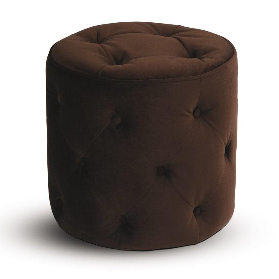 Office Star Avenue Six Chocolate Round Ottoman