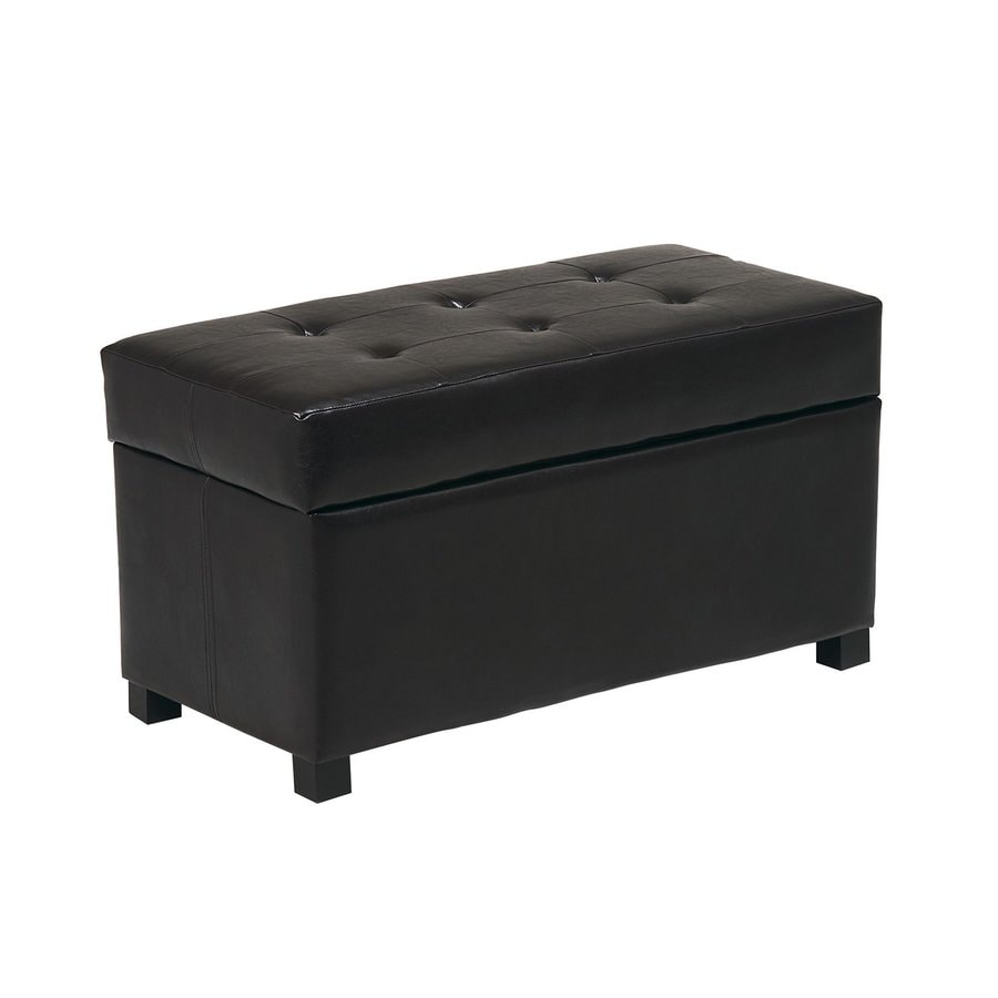 Office Star OSP Designs Espresso Rectangle Storage Ottoman