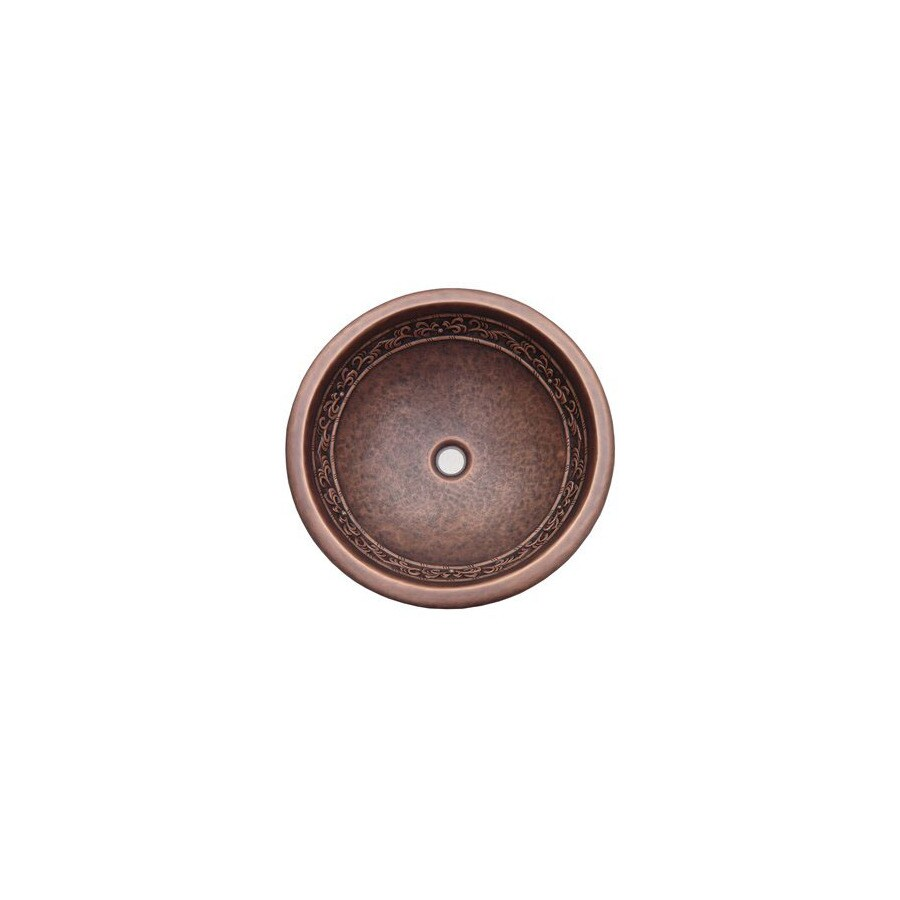 Yosemite Home Decor Copper Old Penny Copper Undermount Round Bathroom Sink