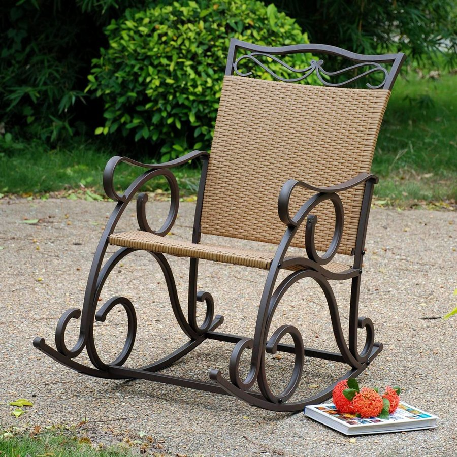 ... International Caravan Valencia Wicker Patio Rocking Chair at Lowes.com