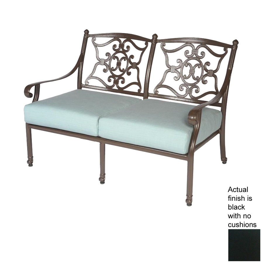 Meadow Decor 35-in L Aluminum Patio Bench