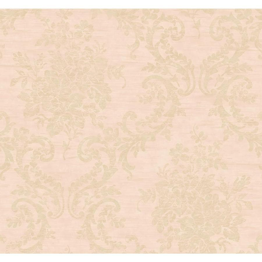 Inspired By Color Pink and Tan Peelable Paper Prepasted Classic Wallpaper